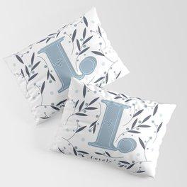 Letter L initial Pillow Sham