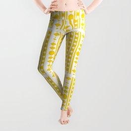 Tribal pattern Yellow Leggings