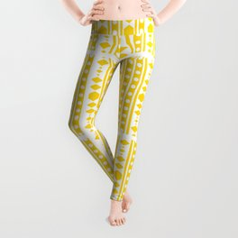 Tribal pattern Yellow Leggings