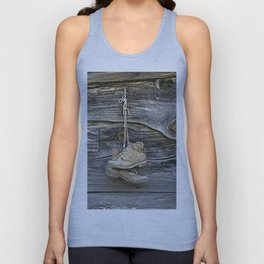Old Boots Hanging on a Nail Unisex Tank Top