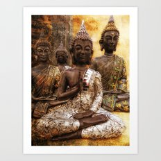 the 4 Buddhas Art Print