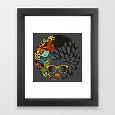 Afro Diva : Sophisticated Lady Gray Framed Art Print