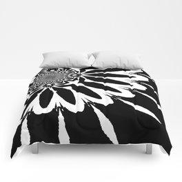 The Modern Flower Black & White Comforters