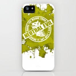 d20 Neutral Evil Alignment iPhone Case