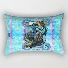 "Ars Tarot of the 12 Zodiac: ""Cancer - The Chariot"" Rectangular Pillow"