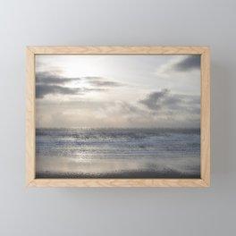 Silver Scene ~ Ocean Ripple Effect Framed Mini Art Print