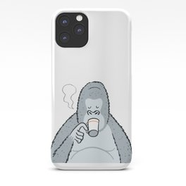 Gorilla's Coffee time... iPhone Case