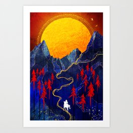 To The West Art Print