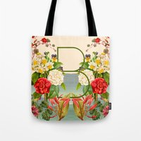 botanical Tote Bags featuring Botanical by Blue Jean Genie