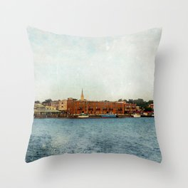 Wilmington, NC on the Cape Fear River Throw Pillow