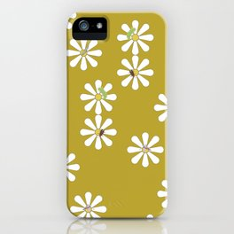 Bugs on Daisies in Mustard iPhone Case