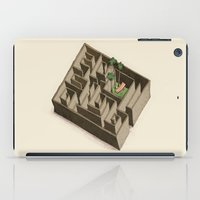labyrinth iPad Cases featuring labyrinth by Miriam Bauer