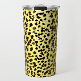 Leopard Print Animal Wallpaper Travel Mug