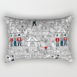 retro circus bw col Rectangular Pillow