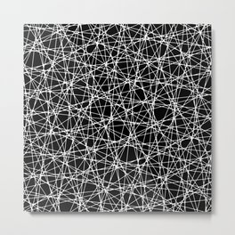 Impasse - white on black Metal Print