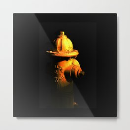 Fire Hydrant Orange and Black Art - Hot - Sharon Cummings Metal Print