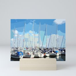 Harbor flair Mini Art Print