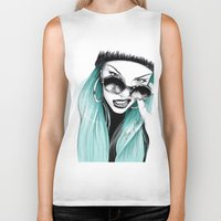 turquoise Biker Tanks featuring Turquoise by HausOfAx