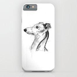 Italian Greyhound Sketch iPhone Case