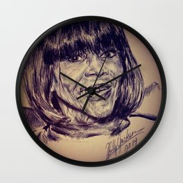 Miss Pitman Wall Clock