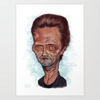 christopher walken Art Prints featuring Christopher Walken by Nicolas Villeminot
