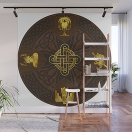 Ilvermorny Knot with House Shields Wall Mural