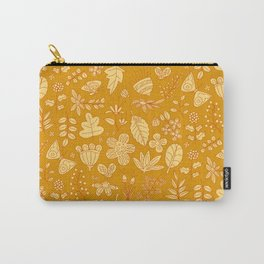 Garden Scatter - Saffron & Paprika (floral pattern) Carry-All Pouch