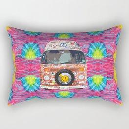 Groovy Hippie Van Rectangular Pillow