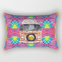 Groovy Hippie Van Rectangular Pillow