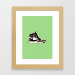 Travis $cott Cactus Jack x Jumpman 1 | Lime Framed Art Print