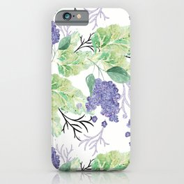 Lilac flowers on a white background. iPhone Case