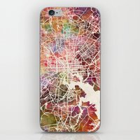 baltimore iPhone & iPod Skins featuring Baltimore map by MapMapMaps.Watercolors