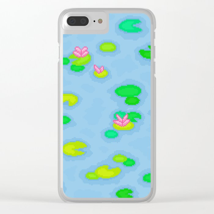Pixel Lake Clear iPhone Case