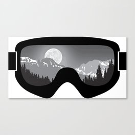 Moonrise Goggles - B+W - Black Frame | Goggle Designs | DopeyArt Canvas Print