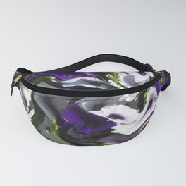 Petunias in Abstract Fanny Pack