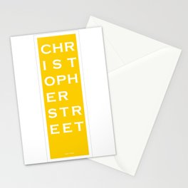 Christopher Street - NYC - Yellow Stationery Cards