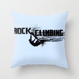 Rock Climbing - Male Throw Pillow