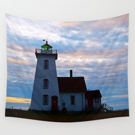 Green Beacon Lighthouse Wall Tapestry