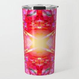 Colourful kaleidoscope pattern Travel Mug