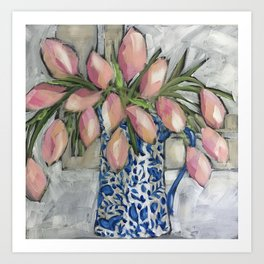Tulips in a Ginger jar Art Print