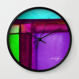 Color Block 6 by Kathy Morton Stanion Wall Clock