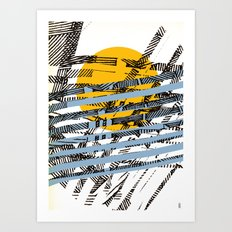 - blue or not - Art Print