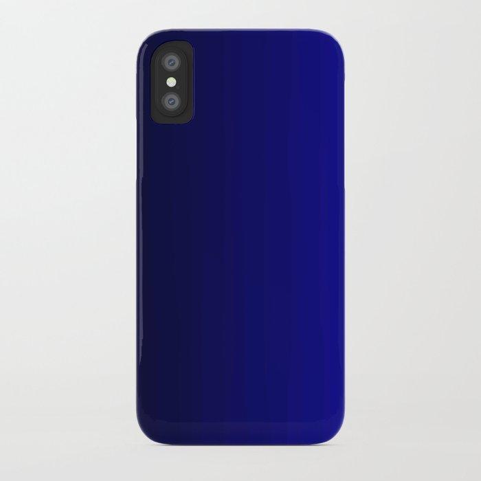 rich vibrant indigo blue gradient iphone case