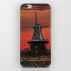The deZwaan Dutch Windmill at Sunset iPhone & iPod Skin