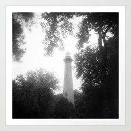 Dreamy Currituck Beach Lighthouse Daze - Black and White Film Photograph Art Print