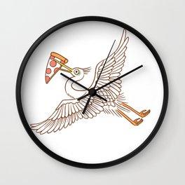 PizzaCrane Wall Clock