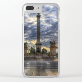 Heroes Square Budapest Sunrise Clear iPhone Case