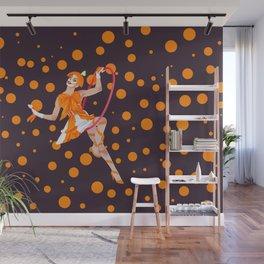 orange oddly Wall Mural