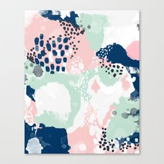 Kimmie - abstract painting modern hipster trendy urban city painterly boho home college dorm decor  Canvas Print