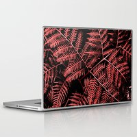 burgundy Laptop & iPad Skins featuring Burgundy Bracken by Moonshine Paradise